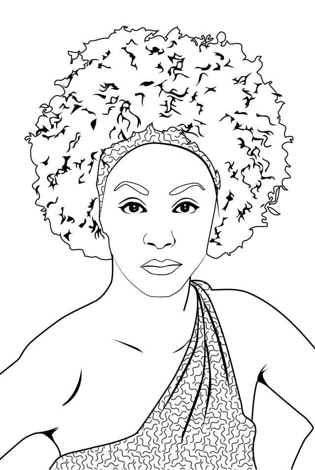 Draw any photo into a coloring book page line art by Indielearn
