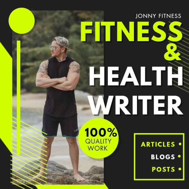 Write content for sports, health, fitness blogs and articles by