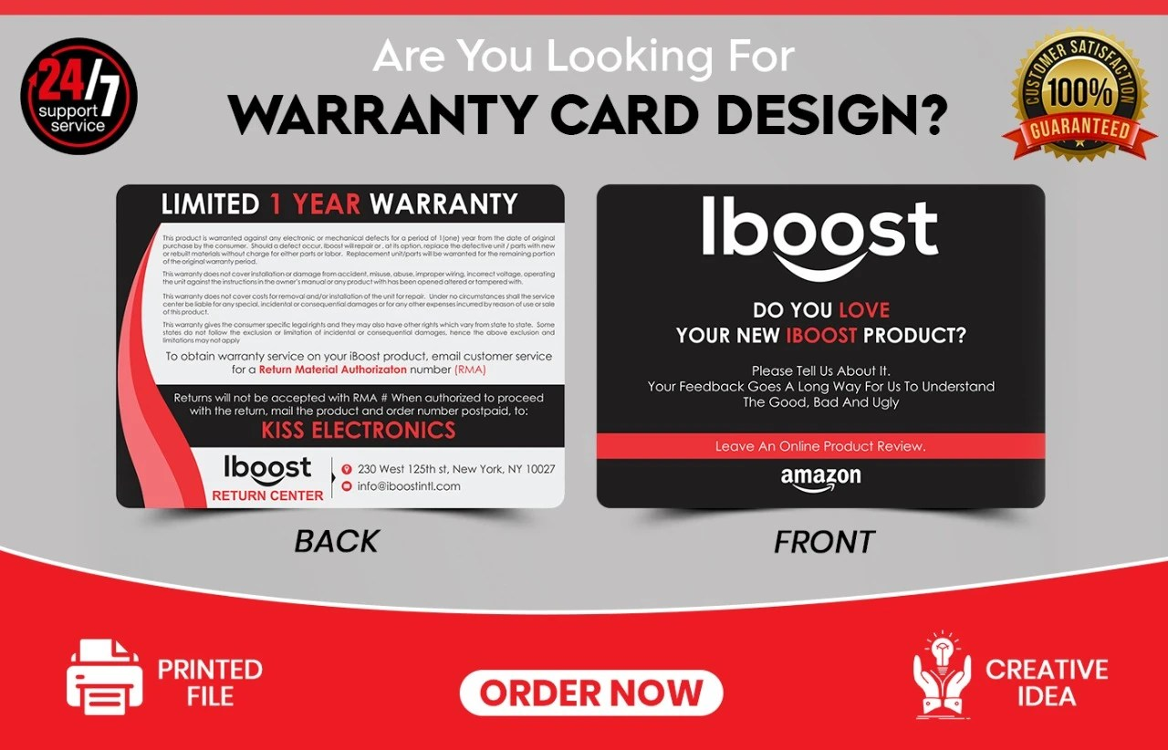 Once submitted, addent will keep your completed warranty on file. Design Business Card Warranty Guarantee Card Design By Hazirtech Fiverr
