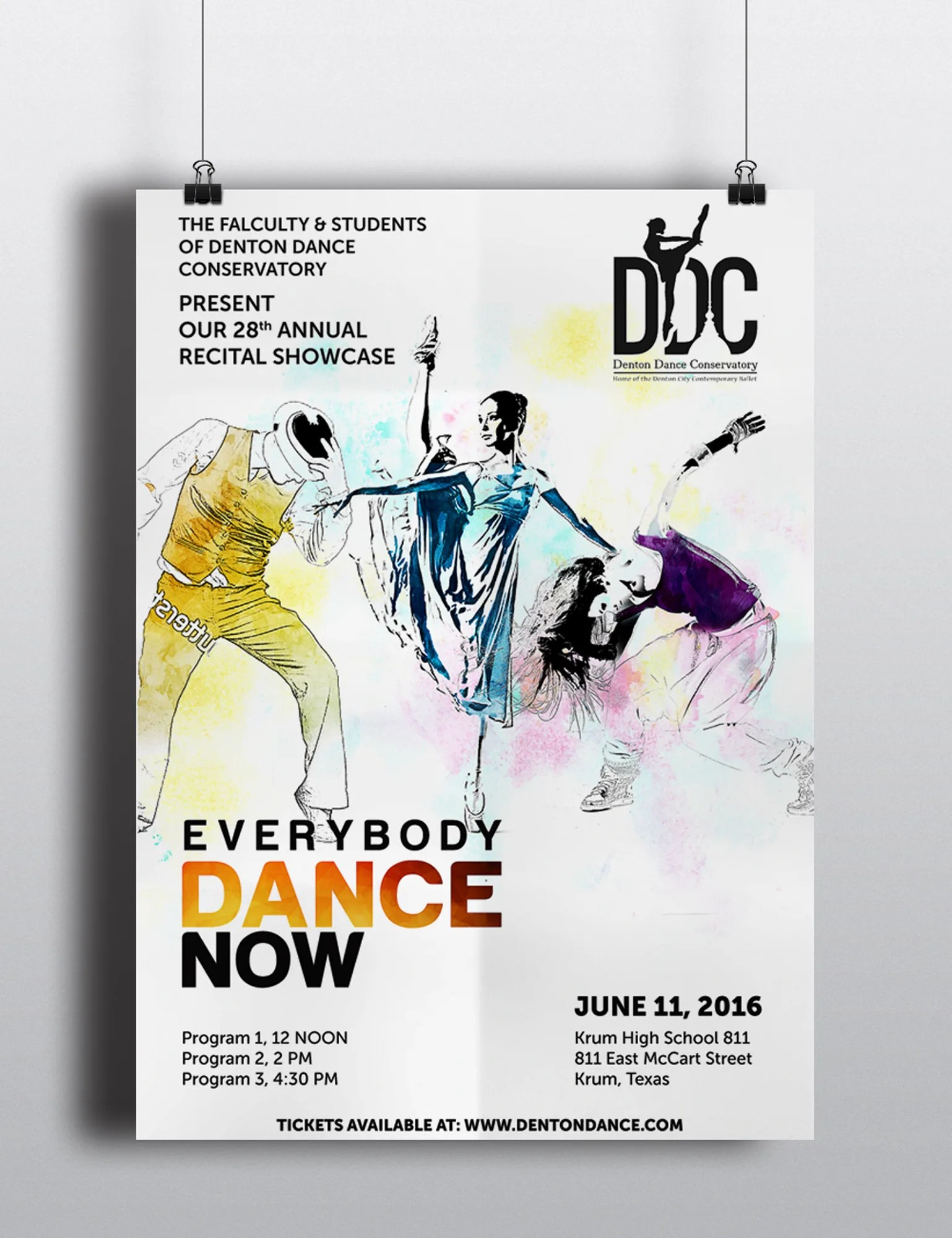 design creative dance music poster for your event