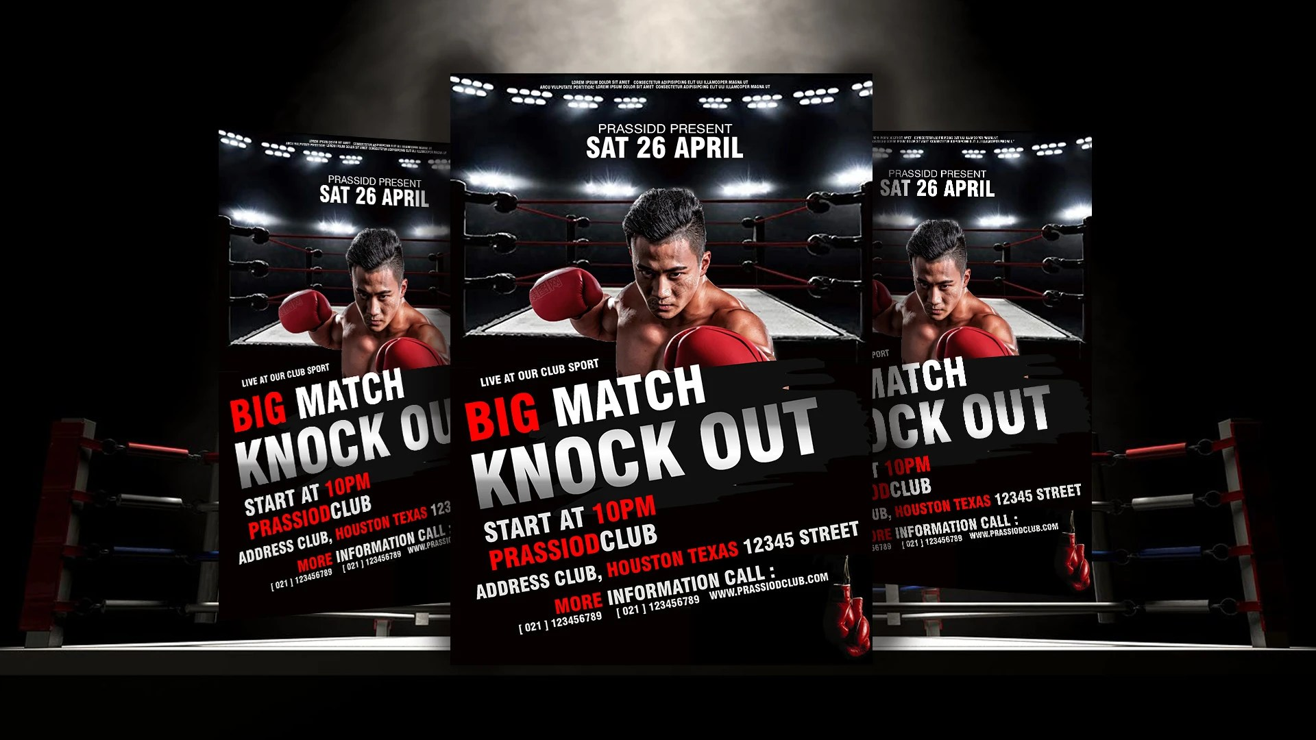 design an amazing boxing flyer brochure boxing sport poster