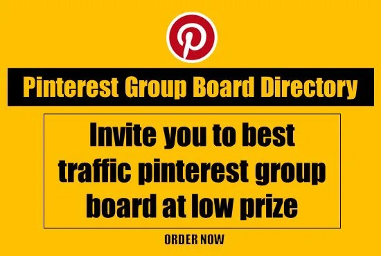 Invite you to best quality pinterest group boards by Nurul123   Fiverr