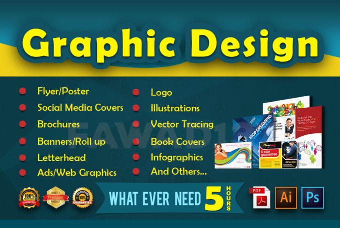 do graphic design flyer poster brochure