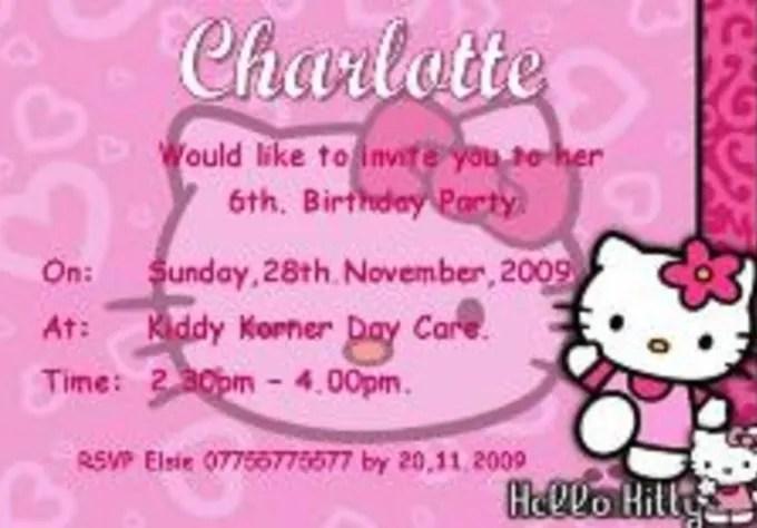 hello kitty diy printable invitations
