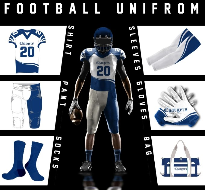 Download Design best american football uniform and 3d mockup by ...