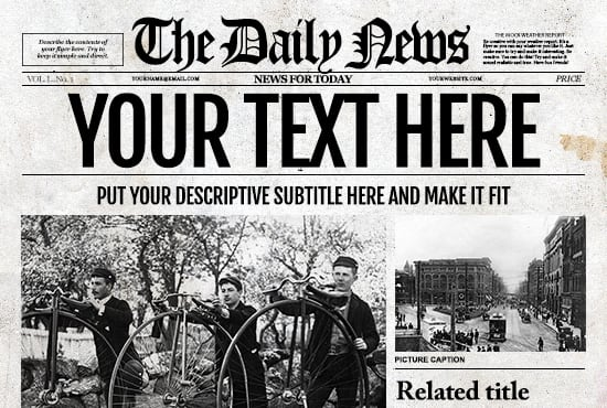 customize a old fashioned newspaper for your provide you with an old style newspaper template