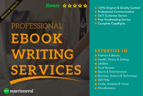 be your writer for any ebook writing service