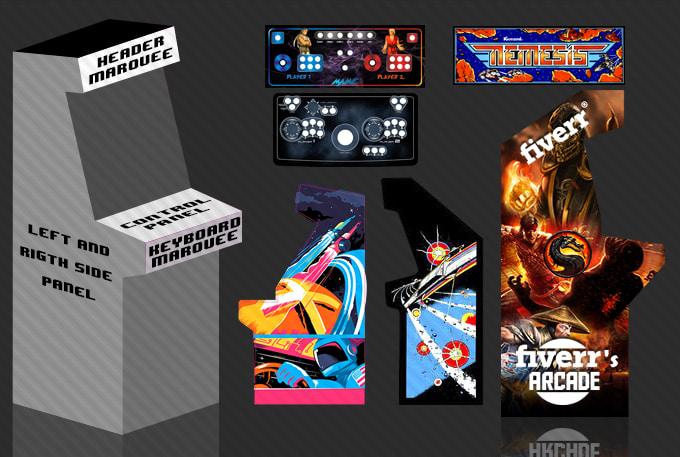 Make A Awesome Custom Arcade Cabinet Artwork