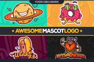 design you an awesome mascot logo