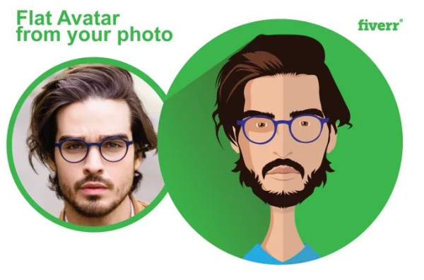 Make your photo into flat avatar in my style by Dreamartwork