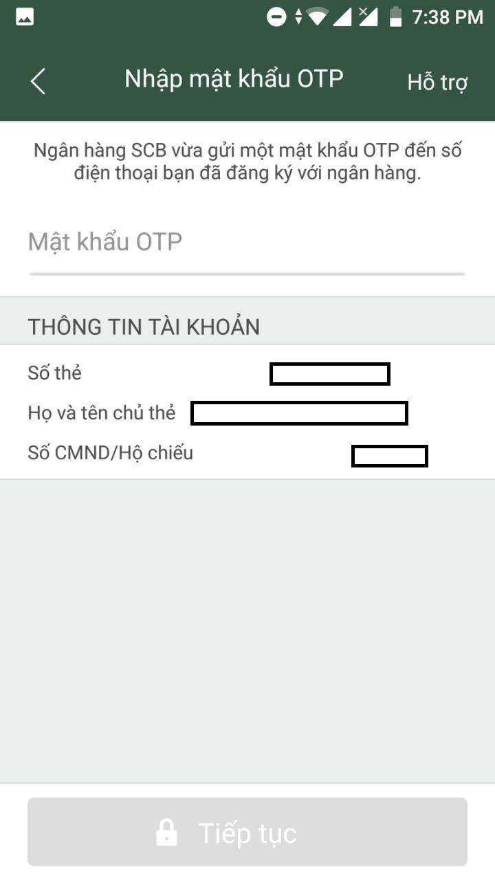 liên kết ví điện tử momo với ngân hàng scb3