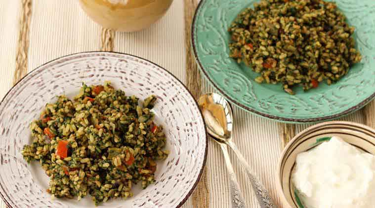 Try this delicious Brown Spinach Rice for a healthier you