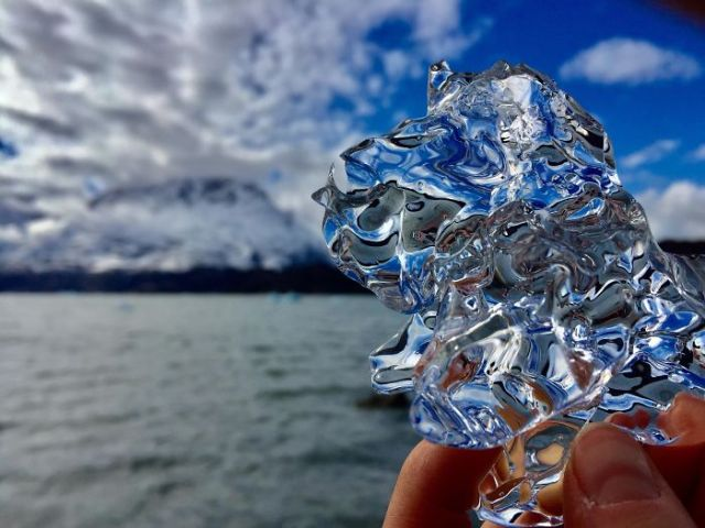 A Piece Of Glacial Ice I Found On The Beach