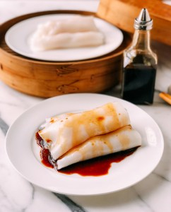 "Shrimp Rice Noodle Rolls (Shrimp Cheung Fun or ""Ha Cheung"")"