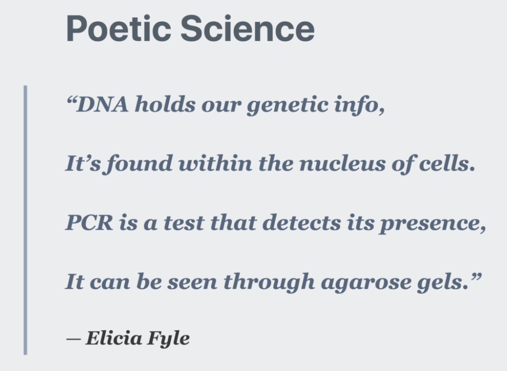 Elicia Fyle Poem about DNA