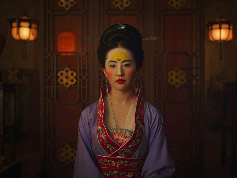 Liu Yifei in traditional Chinese dress in Disney's 2020 Mulan.