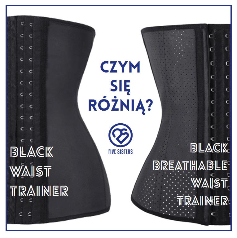 Różnice pomiędzy black waist trainer a black breathable waist trainer