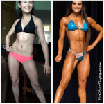 My bikini division client Angelica from Texas, before and after
