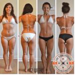 Body transformation client Alison's 12 week progress