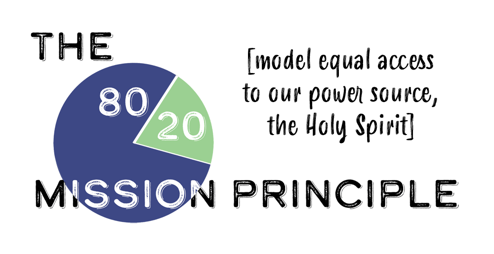 The 80/20 Mission Principle: Model Equal Access to Our Power Source, the Holy Spirit