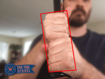 How to hold a baseball bat - box grip