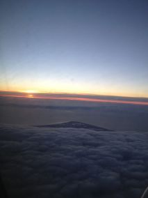Sunrise on our flight over.