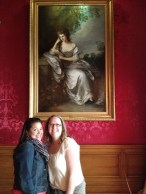 Trying to look like ladies in front of Frances Browne, Mrs John Douglas