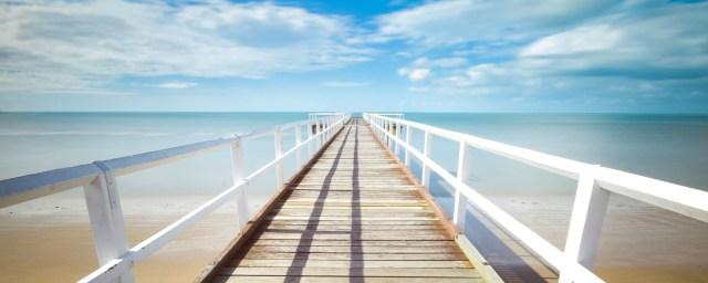 jetty, beach, freedom
