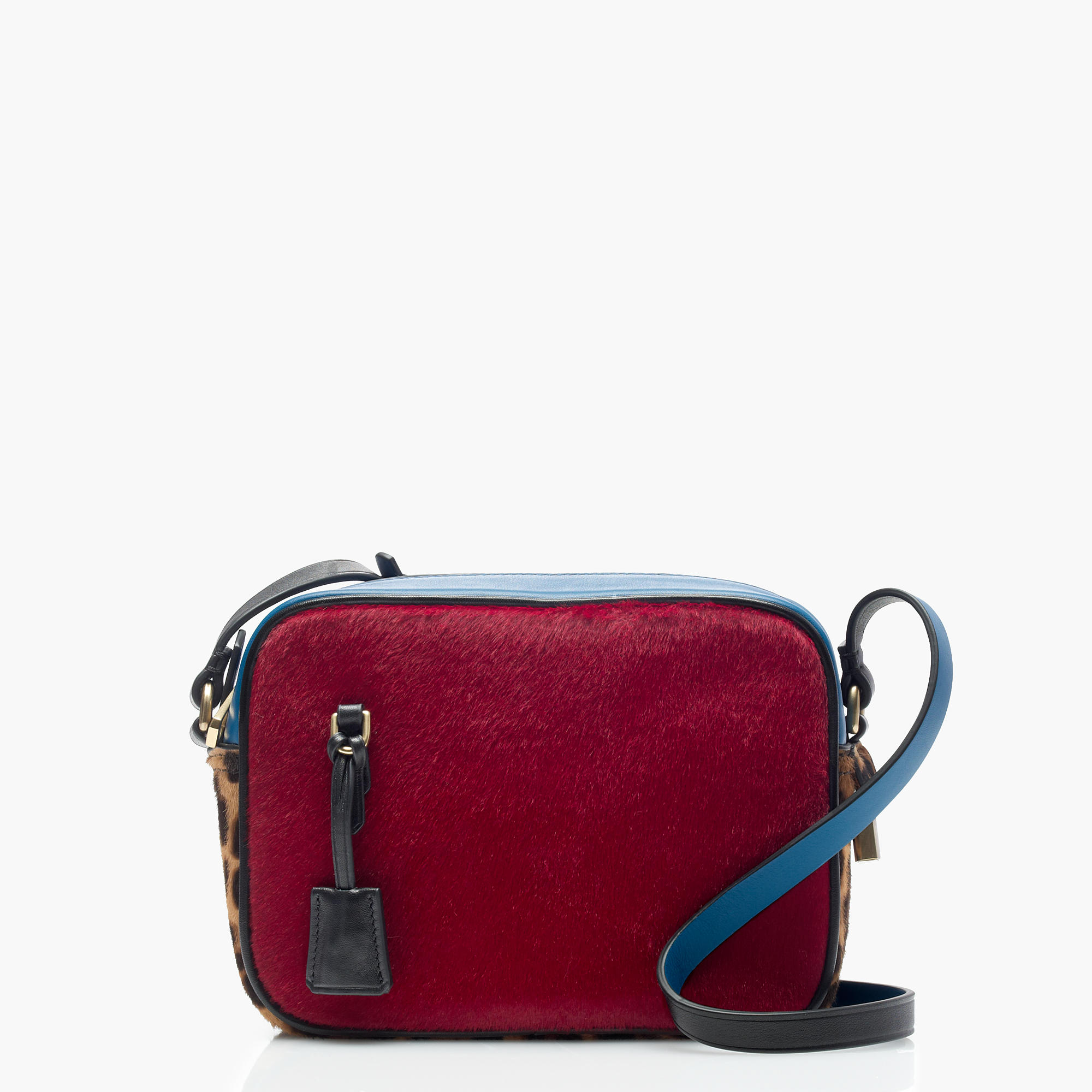 J.Crew Signet Bags in Printed Italian Calf Hair, Bright Ruby