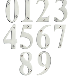 Mila door numbers brushed chromexx