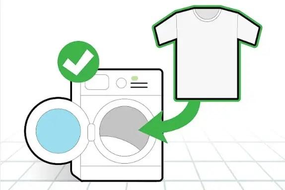 غسل الملابس بالطريقة المعتادة