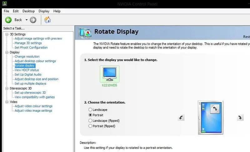 كيفية اعادة شاشة الكمبيوتر الى وضعها الطبيعي للحواسيب العاملة بكارت شاشة NVIDIA