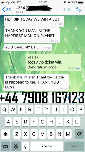 FIXED MATCHES REAL WHATSAPP PROOF