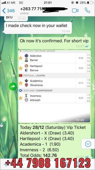 vip ticket fixed matches combo 28 12
