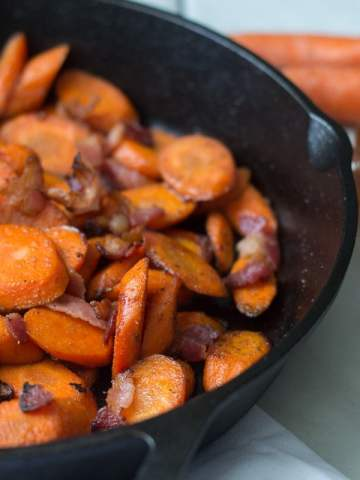 Fixed on Fresh - Quick and Easy Maple Bacon Carrots