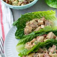 BLT Avocado Chicken Salad Wraps