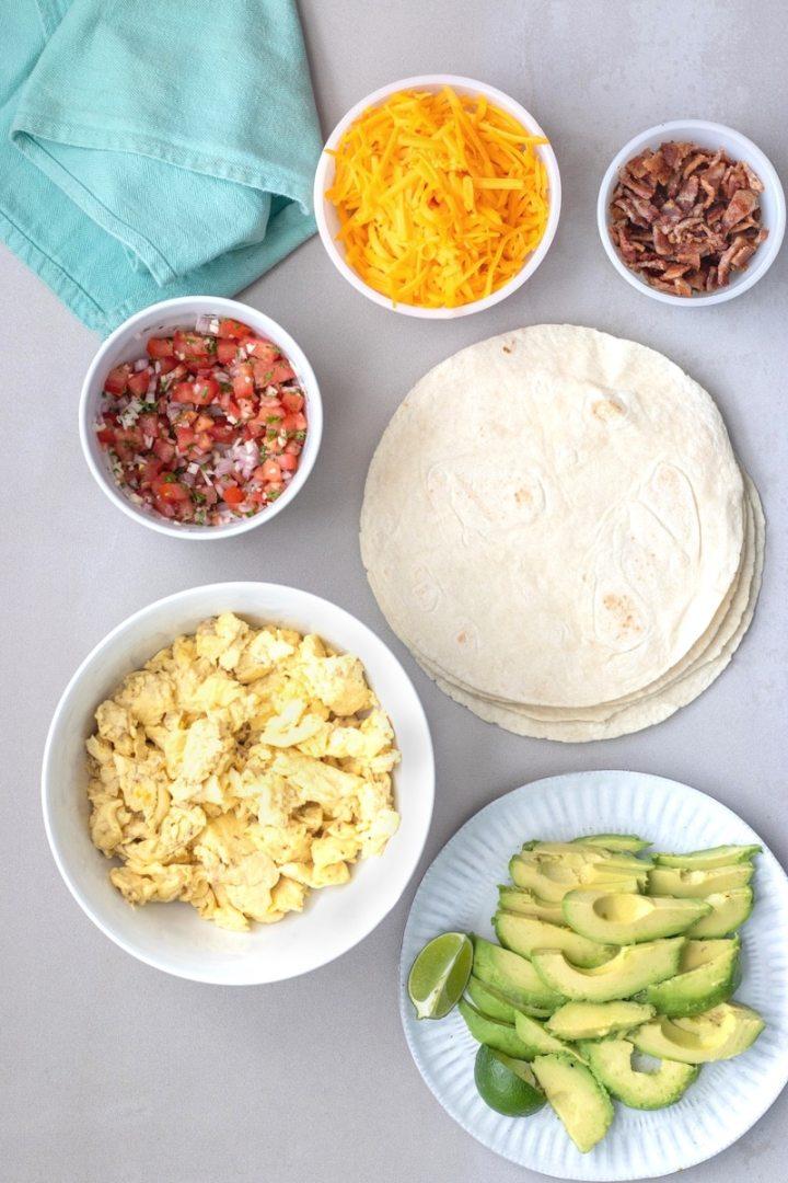 breakfast burrito ingredients