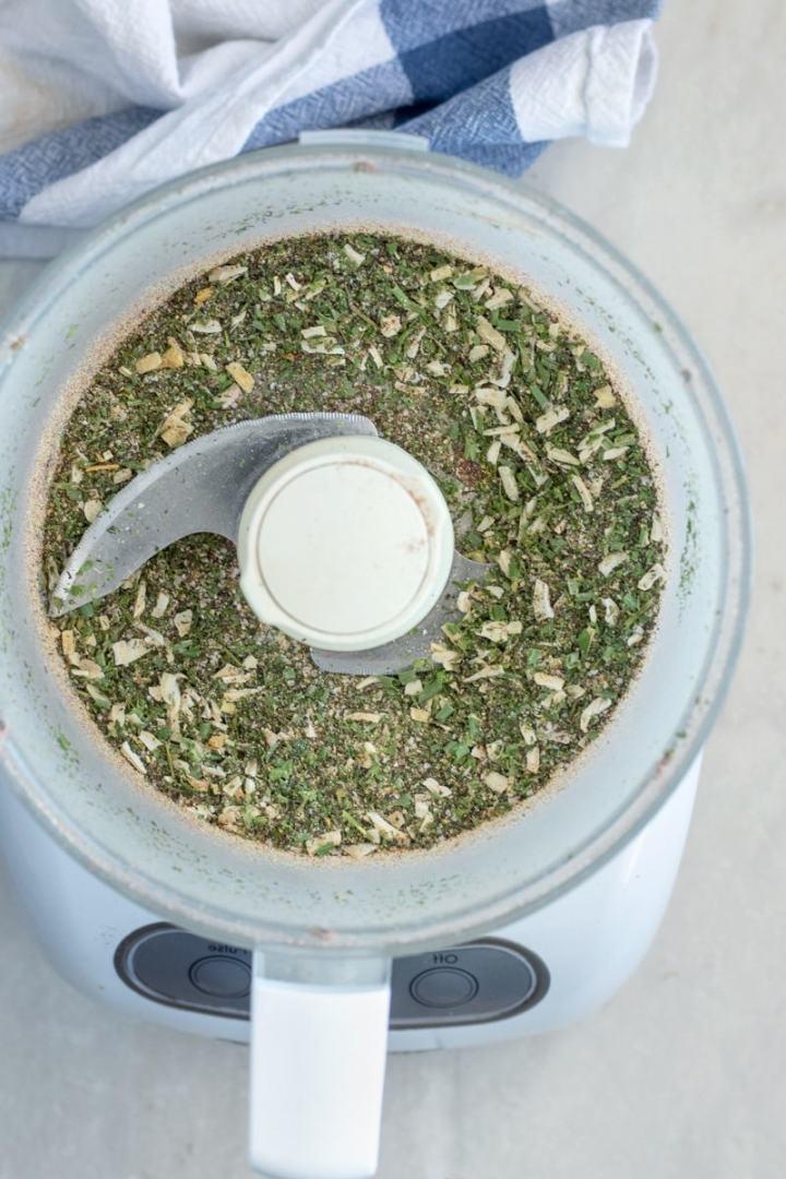 Make the whole recipe in a food processor