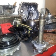Audi CVT disassembled on bench