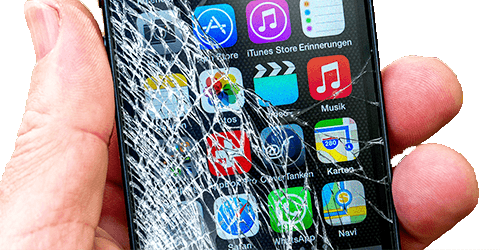 Mobile phone screen and front glass repair service in UK same day bring it in or send for online repair