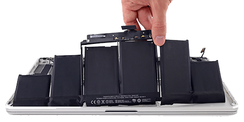 MacBook Pro battery replacement repair services in UK, bring it in or send for online repair