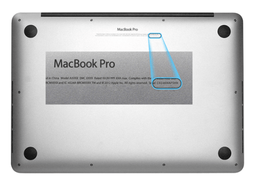 MACBOOK PRO REPAIR SERVICES IN LONDON BY COMPUTER SPECIALISTS CHECK THE SERIAL NUMBER FIRST