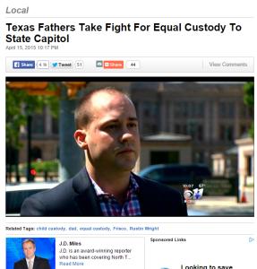 CBS Rustin Wright Texas Father's Rights Legislative Fight 2015 April 15