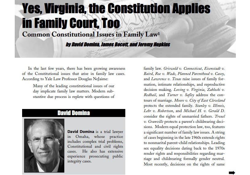 Attorneys Validate Fix Family Courts has Been Right All Along – Yes, Virginia, The Constitution Applies in Family Court Too