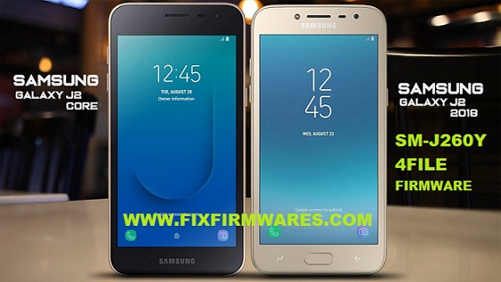 SM-J260Y Galaxy J2 Core 2018 4 File Officail Firmware Download Free