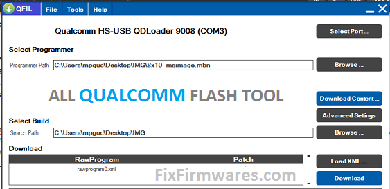 Qualcomm Flash Image Loader - All Qualcomm Flash Tool