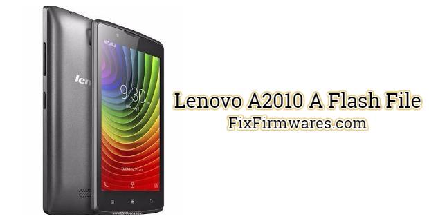 Lenovo A2010 A Flash File