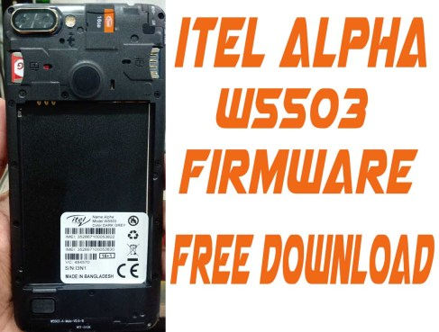 Itel Alpha W5503 Flash File Without Password