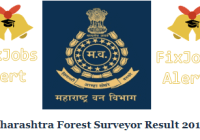 Maharashtra Forest Surveyor Result 2019 @ mahaforest.gov.in Cut Off & Merit List