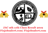 JAC 9th 11th Class Result 2019 @ jac.jharkhand.gov.in Jharkhand Board Results Date